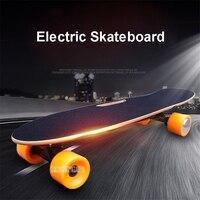 Четыре 4 колеса Электрический скейтборд с дистанционным управлением взрослый скутер дерево Longboard рыба скейт доска Hoverboard 10 км/15 км пробег