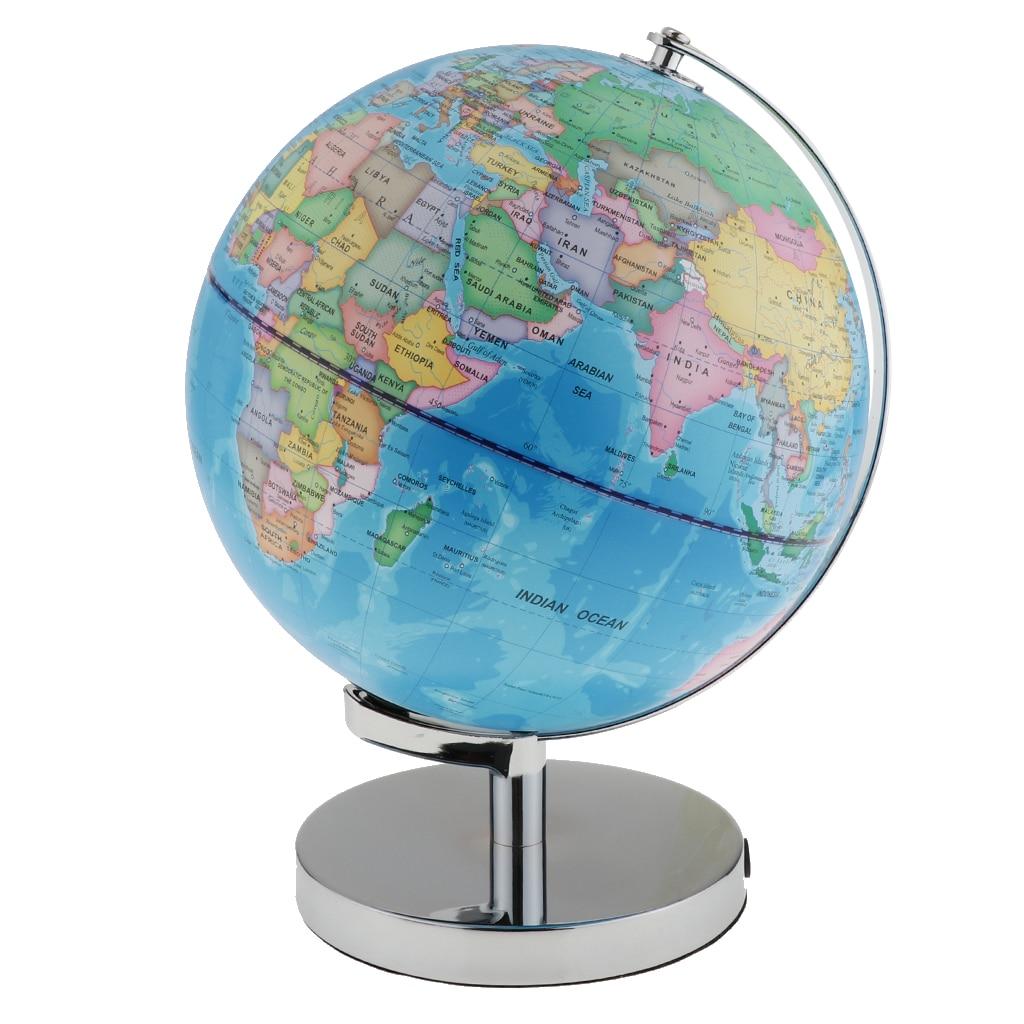 3 en 1 carte du monde Globe illuminé détaillé éducatif géographique apprentissage monde Globe terrestre veilleuse maison Table décor