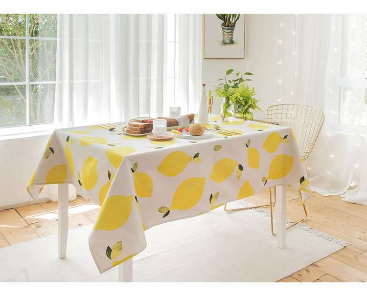 Home tablecloth cloth linen tablecloth mats table mat simple modern rectangle