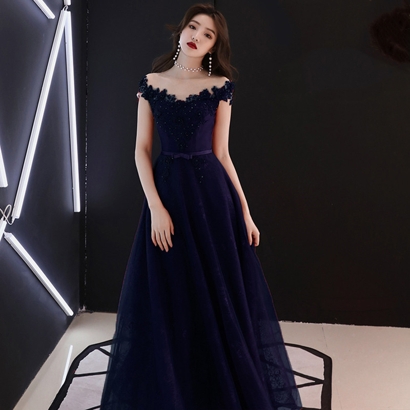 Evening     Dress   Embroidery Flowers Pearls Short Sleeve Formal Prom   Dresses   Red Boat Neck Lace Up Customized Long Party Gowns E354