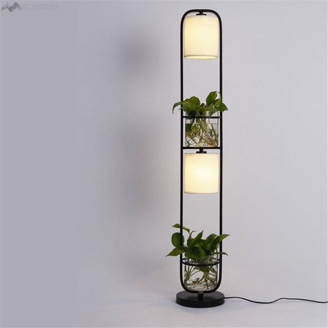 Modern Art Creative Planten Vloerlamp Plasscloth Staande Licht voor ...