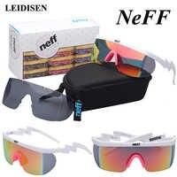 Con caja gafas De Sol De moda NEFF hombres/mujeres marca diseñador gafas De Sol conducción calle gafas 2 lentes Oculos De Sol feminino