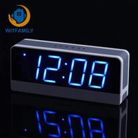 LED Digital Electronic Alarm Clock Student Children Snooze Big ScreenBig Screen Old Man Seat Bell Mute Luminous Bedside Clock