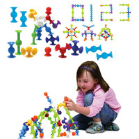 DIY Squigz Sucker Cup Silicone Building Blocks Assembled Sucker Suction Cup Funny Construction Toys Children Education