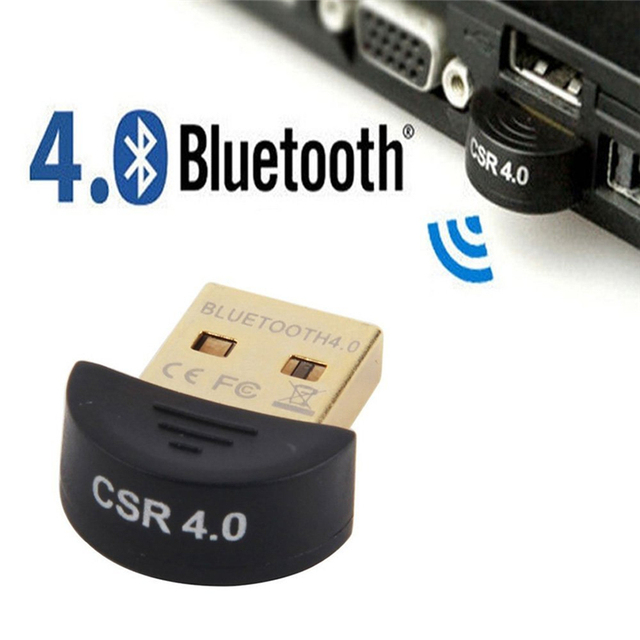 Mini USB Bluetooth Adapter V4.0 CSR Dual Mode Wireless Bluetooth V 4.0 Dongle Music Sound Receiver for Windows 10 8 7 Vista XP