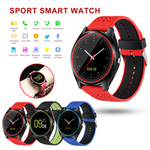 Bluetooth V9 Smart Watch Men Wearable Devices Smartwatch reloj inteligente Support SIM Card TF Card Women