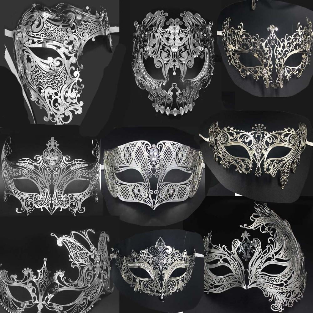 Роскошная серебристая, золотистая, искусственная Лазерная вырезка черепа, венецианская Маскарадная маска, маски для свадьбы, праздника, ро...
