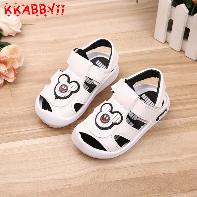 New Summer Boys Beach Sandals Kids Leather Shoes Fashion Sports Sandals Children Sandals For Boys Leather Casual Shoes