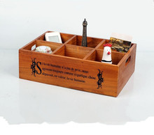 1PC 33x22x10cm Vintage Wooden Boxes Crates Flower Pot Kitchen Trinket Desktop Storage Case Fashion wooden storage box JL 0909
