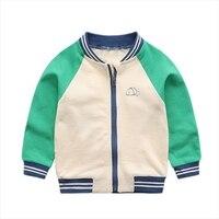 New Boys Jacket Baseball Jacket For Baby Kids Football Jersey Coat Children Windbreaker Boys 2T 6T