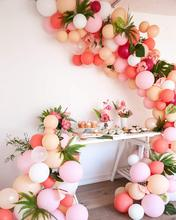 METABLE 100 pcs 12/10 inch Blush Pink Coral Balloons Pastel Party Decorations, Decorations