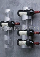 THICK FASHION Stainless steel wall mounted wine rack wall wine rack Wine Bar creativity,1PCS