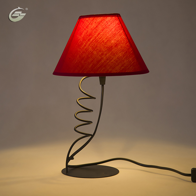 Simple red led table lamp for wedding bedroom decorative desk lamp reading lamp for home