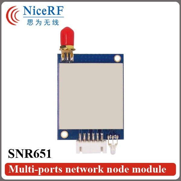 SNR651-433MHz TTL/RS232/RS485 Интерфейс Передатчик RF Модуль | 40 Канала 3 КМ Диапазон 27dBm Network Node (не включая Антенну)