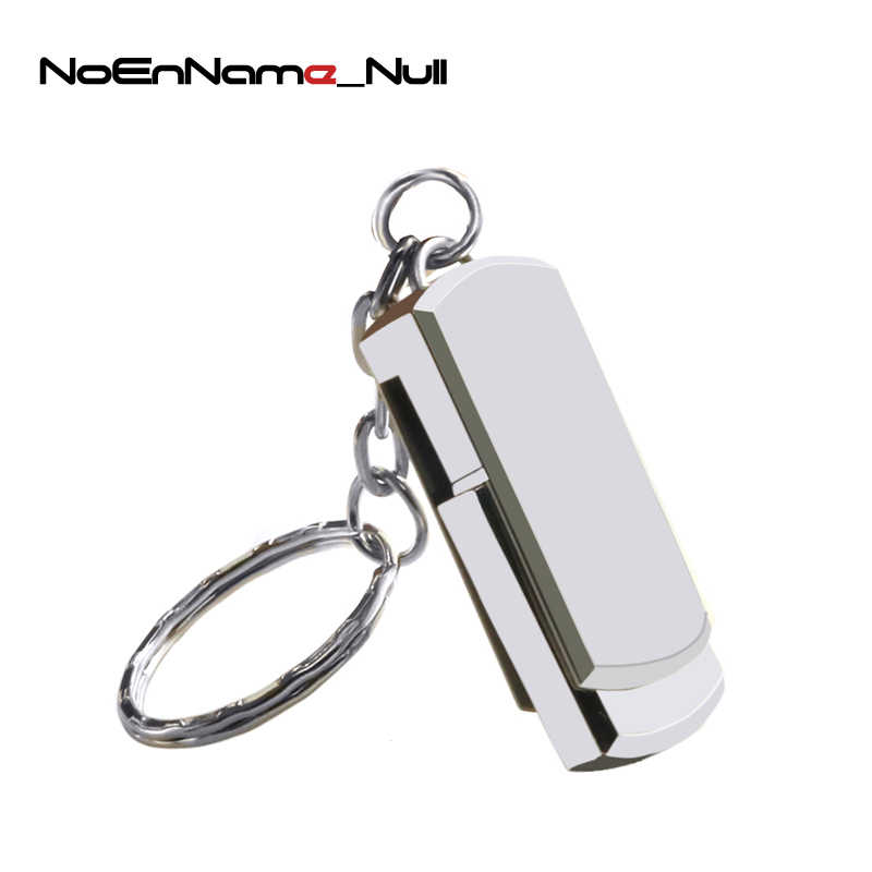 Real Capacity Stainless Steel USB Flash Drive Swivel Pen Drive 4GB 8GB 16GB 32GB 64GB 128GB Pendrive USB 2.0 Memory Stick