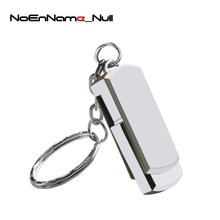 Capacidade Real Unidade Flash USB de Aço Inoxidável Swivel Pen Drive GB 8 4GB GB GB 64 32 16GB pendrive 128GB USB 2.0 Memory Stick(China)
