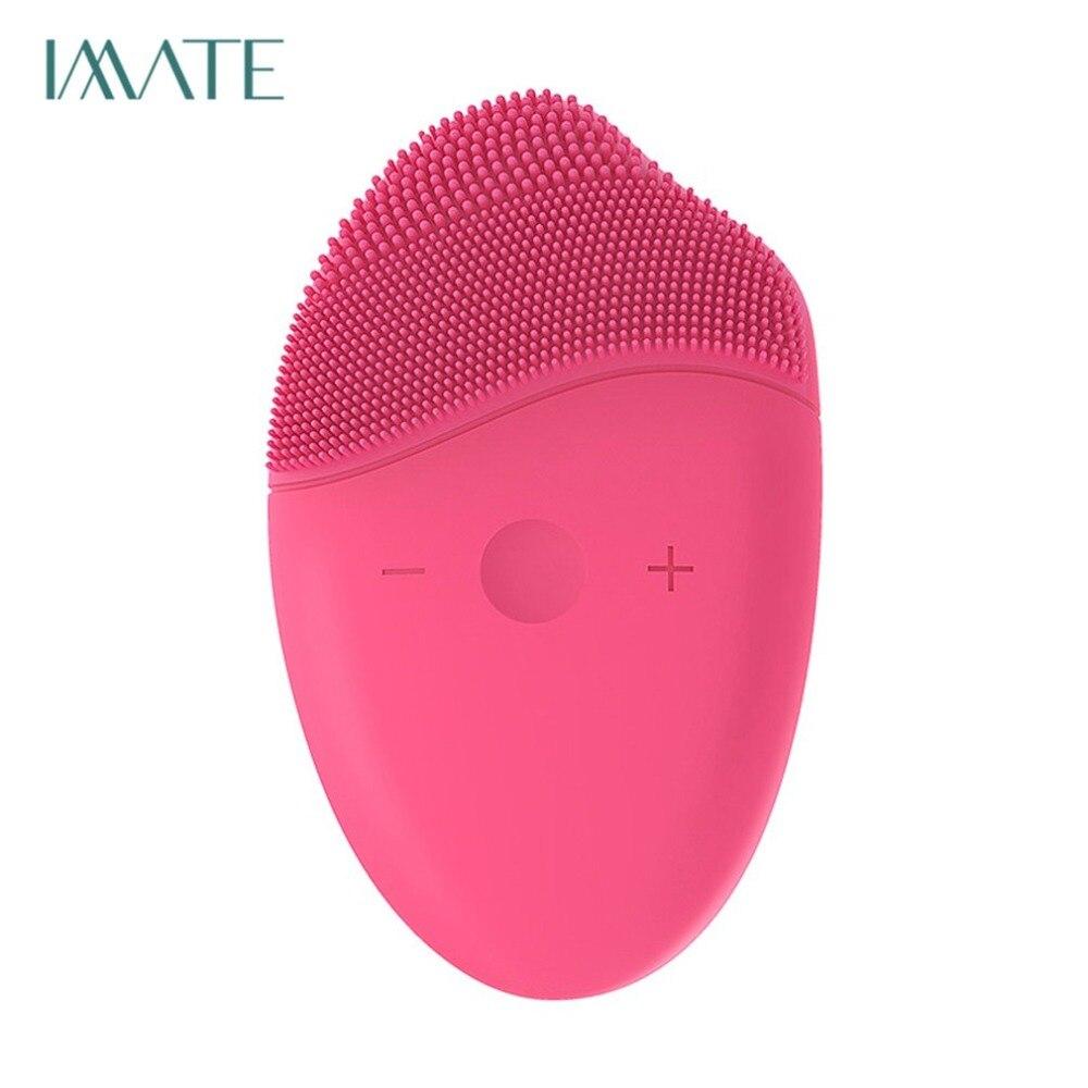 Amistoso M-1008 Cepillo Facial Ultrasónico Limpiador De Silicona Dispositivo De Limpieza Usb Recargable Masajeador Facial Resistente Al Agua Instrumento De Belleza