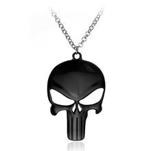 Free shipping movie jewelry The Punisher Skull Logo Skeleton Movie Mask pendant necklace