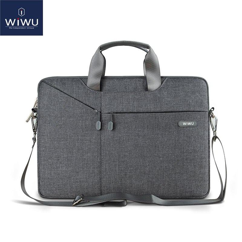 Bolsa de mensajero para ordenador portátil WiWU 11 12 13,3 15,6 15,4 14,1 bolsa de Nylon impermeable para ordenador portátil Dell 14 para Macbook Pro 13 funda