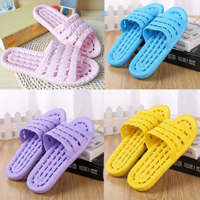 KLV New Summer Super Soft Hollow Slip-on Slipper Garden Hotel Home Bathing Sandals super slipper taipei