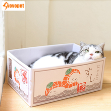 VOVOPET Pet Cat Paper Scraper Board Playing Grinding claw Kitten Cats Nest Scratcher Box Claw Care toy