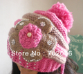 Winter rithinstone Baggy Crochet Beanie Hats Skull Caps hat tamhat barret Handmade Womens mixed design colors 11pcs/lot #3451