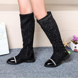 Girls Snow Boots Fashion Crystal High Quality Flock Children Boots Zipper Kids Boots Winter Shoes 4 Colors Size 26-37