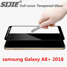 Full cover Tempered Glass For Samsung Galaxy A8+ 2018 A730 A730F A730F/DS Duos plus A8 plus Screen protective black display case protective glass red line for samsung galaxy a8 plus 2018 a730 full screen black