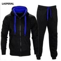 LASPERAL Winter Thicken Men Sportswear Men S Clothing Suit Male Clothing Set Hoodie Pant Running Set