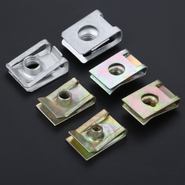 Yetaha 10Pcs Auto Fastener M5 M6 M8 Clips For Car Motor Tread Panel Spire Nut Universal Speed Zinc Mounting Clamp