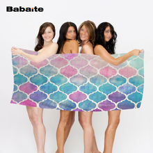 Personalized Bright Moroccan Morning Rainbow Pastel Special Bath Beach Towel Sports Towel Home Hotel Bathroom Drying Washcloth