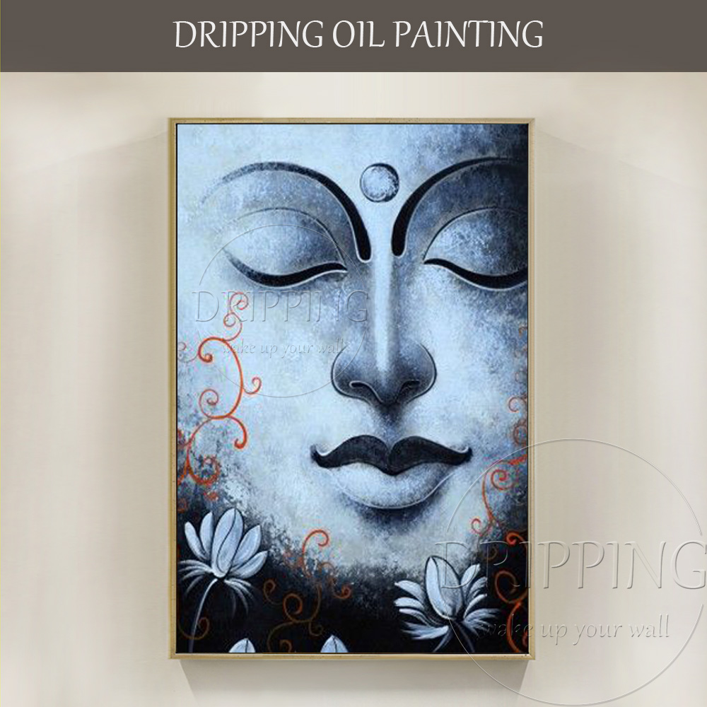 Artist Hand-painted High Quality Modern Portrait Buddha Oil Painting on Canvas New Design Buddha Figure Oil Painting for Decor