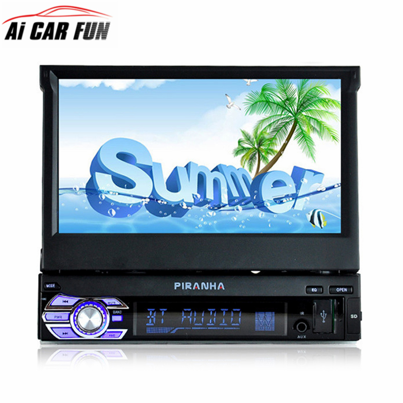 9601 1Din 7'' HD digital display Retractable Screen Car mp4 mp5 Player Stereo FM transmitter Car Audio Radio Support rear camera niorfnio portable 0 6w fm transmitter mp3 broadcast radio transmitter for car meeting tour guide y4409b