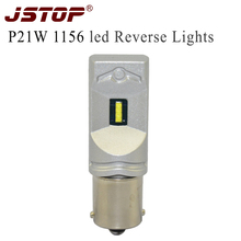 JSTOP Led di Inverso Dell'automobile luci Lampade 7.5 W 500LM 1860SMD 6000 K bianco P21W BA15S 1156 Nessun errore Canbus 12-24 V led auto luci di Retromarcia