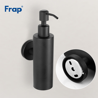 Frap Wall Mounted Liquid Soap Dispenser Pump Hand for Kitchen Black Stainless Steel Shower Lotion Soap Holder Bathroom Y18005