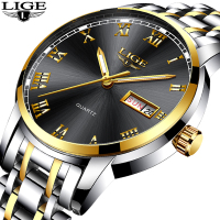 LIGE Watch Men Fashion Sports Quartz Clock Watches Top Brand Luxury Full Steel Business Waterproof Men