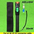 KELUSHI 30 MW de Metal Localizador Visual da Falha da Fibra Óptica Cable Tester Ferramenta De Teste de Laser Vermelho com LC/SC/ST/FC Adaptador para CATV