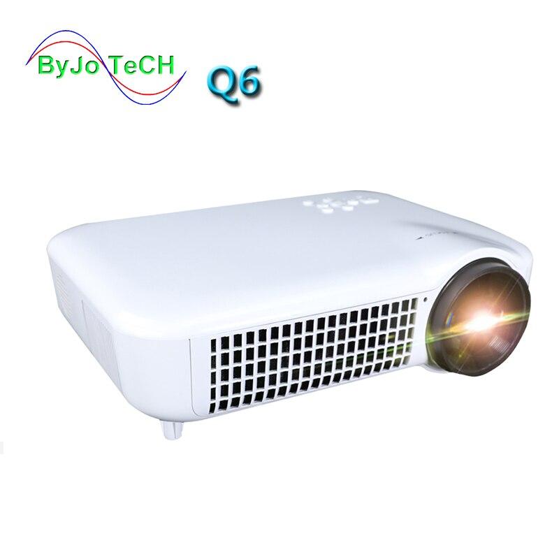 2019 ByJoTeCH Q6 nouveau projecteur 1080 P 4 K 2 K Android 7.0 WIFI Bluetooth 5000 lumens projecteur 3D Home cinéma Proyector HDMI USB