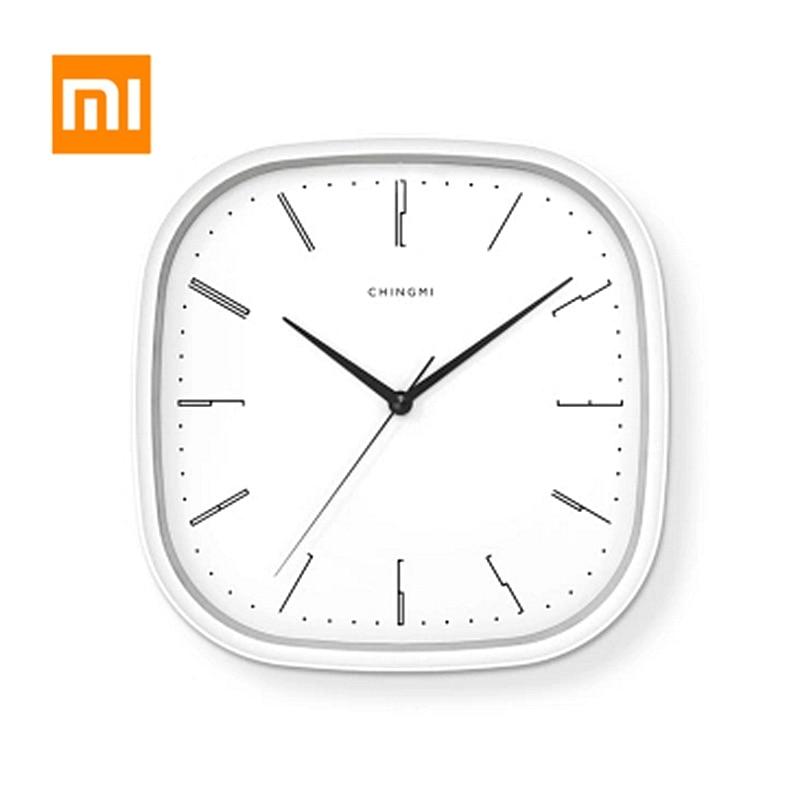 Xiaomi Youpin Mijia horloge murale Simple Style muet horloge suspendue mode ronde Rectangle forme horloge bureau chambre décor à la maison