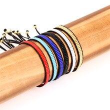 Simple Miyuki Glass Beads Bracelet Women Handmade Colorful Adjustable Rope Chain Couple Bracelets Lovers Jewelry Pulsera
