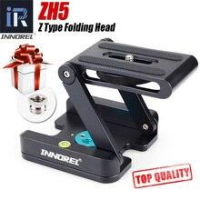 ZH5 Z Type Statiefkoppen Oplossing Fotografie Studio Camera Statief Z Pan & Tilt Flex Tilt Head Aluminium Voor nikon Canon