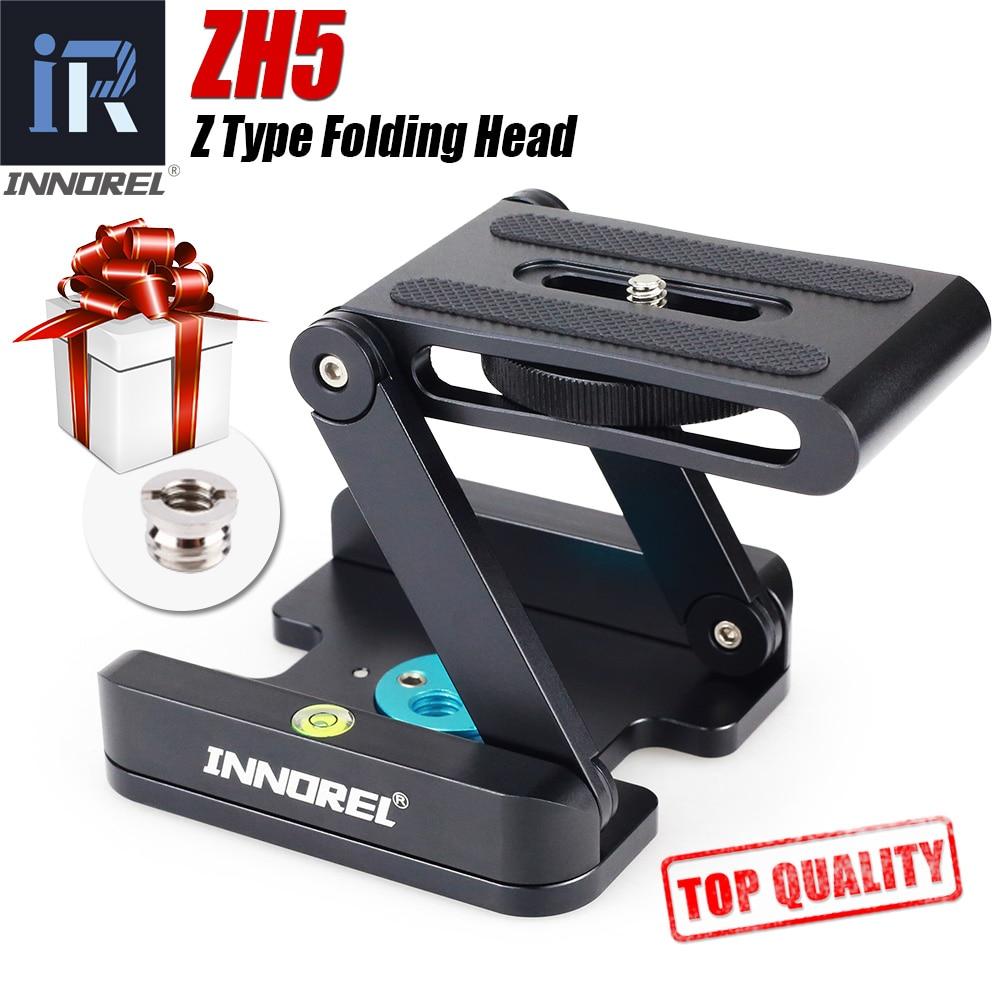 лучшая цена ZH5 Z Type Tripod Heads Solution Photography Studio Camera Tripod Z Pan & Tilt Flex Tilt Head Aluminum Alloy For Nikon Canon