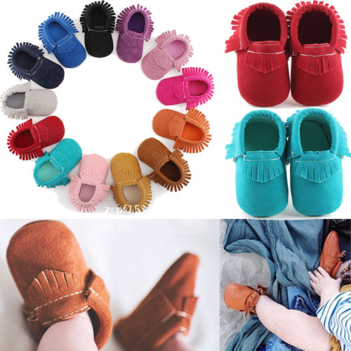 Baby Shoes  Newborn Infant Baby Girl Boy Soft Sole Toddler Moccasin Crib Shoes Prewalker