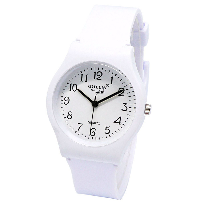 WILLIS Girls Watches Gifts Quartz Silicone Student Women Fashion Boy Casual Simple High-Quality