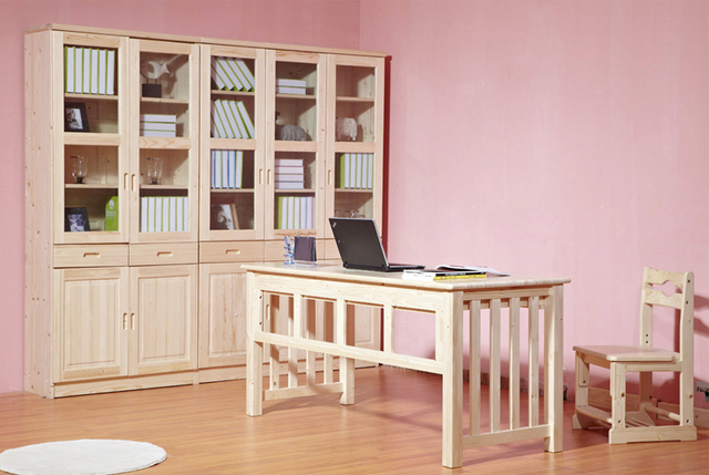 Pine Castle Wood Combination Of High End Children S Bookcase Library Furniture Jewelry Learning Atmosphere Cabinet