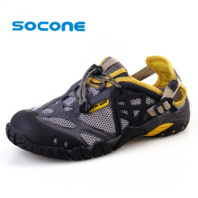 Socone Plus Size 7-13 Men New Aqua Water Shoes Beach Sandals Women Lightweight Sport Sneakers Breathable Leather Shoes Outdoor