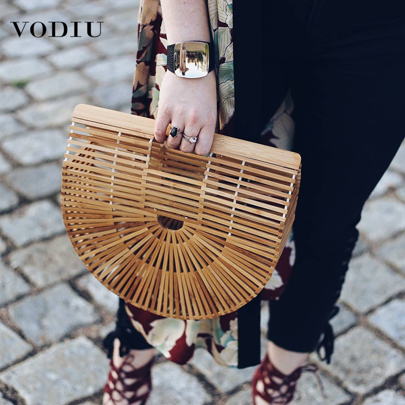 Bamboo Bag Wooden Purses And Handbags Women Clutch Hollow Out Woven Beach Bags For Women Summer Luxury Designer Bamboo HandbagBamboo Bag Wooden Purses And Handbags Women Clutch Hollow Out Woven Beach Bags For Women Summer Luxury Designer Bamboo Handbag