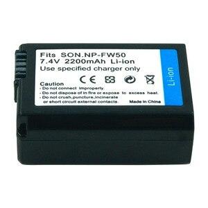 Image 2 - Batería de cámara recargable para Sony Alpha 7R A7R 7S A7S A3000 A5000 A6000 NP FW50 5C A55, 2 uds., 7,4 v, 2.2A, NEX 5N, NP FW50, NPFW50