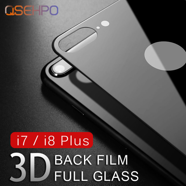 Full Cover Screen Protector For iPhone 7 Plus Tempered Glass On the back For iPhone 8 Plus Rear Full Protective Toughened Glass
