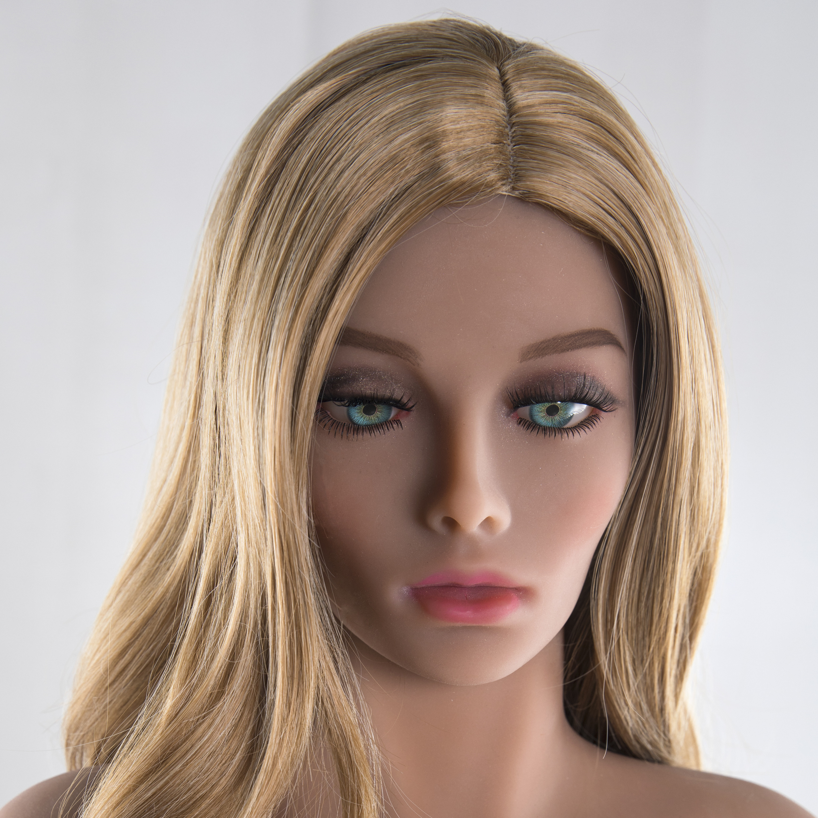 TPE Beauty Head <font><b>Doll</b></font> Customize Skin Tone for 140cm to <font><b>176cm</b></font> Full Size <font><b>Sex</b></font> <font><b>Dolls</b></font> with Oral <font><b>Sex</b></font> Hole Men Masturbation image